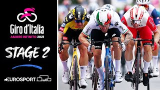 Giro d'Italia 2021 - Stage 2 Highlights | Cycling | Eurosport