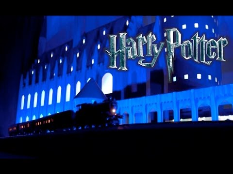 Amazing Harry Potter Christmas Light Show (watch till end!!!)
