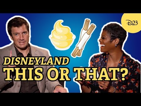 "Disneyland ""This or That"" with Nathan Fillion and Afton Williamson"