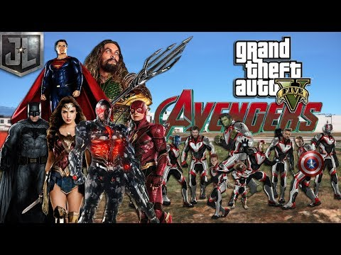 JUSTICE LEAGUE VS THE AVENGERS!! (GTA 5 PC MODS)