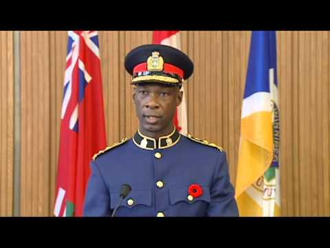Winnipeg's 17th Police Chief Devon Clunis Takes Oath of Office