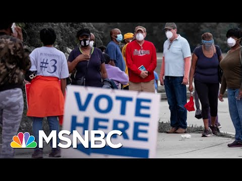 Georgia Officials Claim Voter Enthusiasm Is Behind Hours-Long Lines | The 11th Hour | MSNBC
