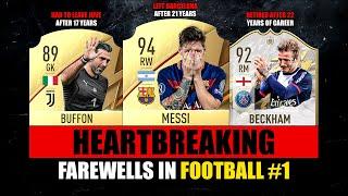 HEARTBREAKING FAREWELLS in Football! 😢💔 ft. Messi, Buffon, Beckham… etc
