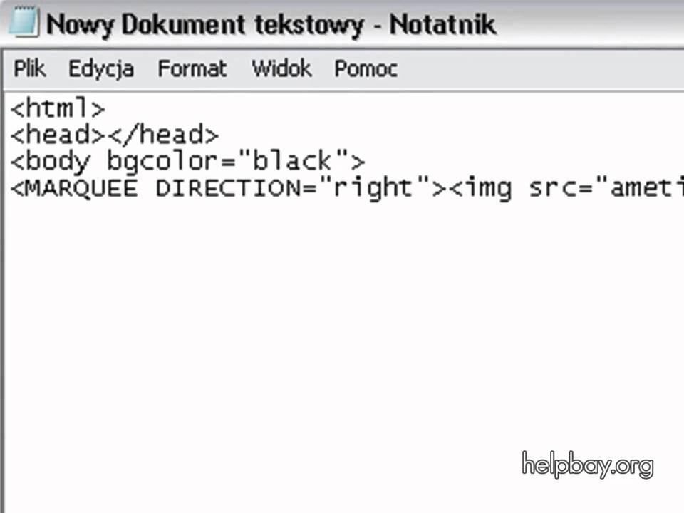 Bardzo dobra jak tworzyć przejściowy baner w HTML? - YouTube RK37