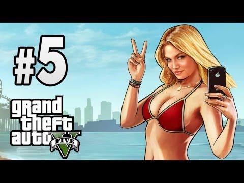 Grand Theft Auto V [GTA 5] Walkthrough - Part 5 aliens, strip club (nudity), Gameplay XBOX360/PS3 HD