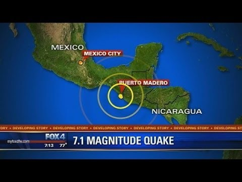 Earthquake : 7.1 Magnitude Earthquake rocks Southern Mexico and Guatemala (Jul 07, 2014)