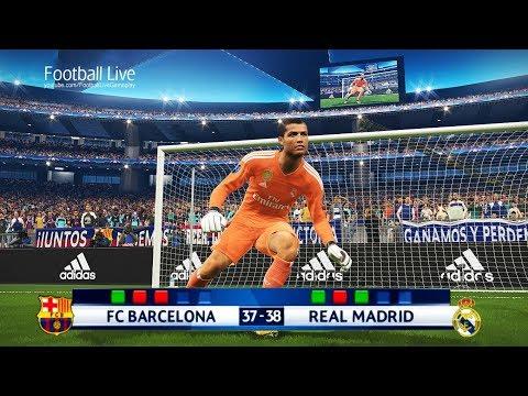 PES 2018 | goalkeeper MESSI vs goalkeeper RONALDO | Longest Penalty Shootout | Barcelona Real Madrid
