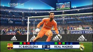 PES 2018   goalkeeper MESSI vs goalkeeper RONALDO   Longest Penalty Shootout   Barcelona Real Madrid