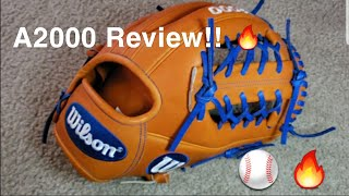 WILSON A2000 BASEBALL GLOVE REVIEW!!⚾️🔥