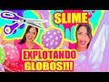 SLIME EXPLOTANDO GLOBOS! RETO Making Slime with BALLOON Challenge - SandraCiresArt