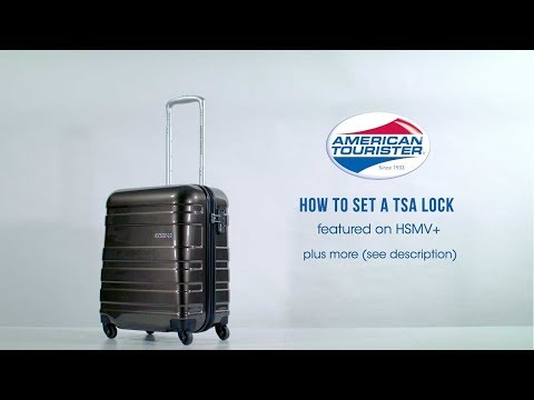 American Tourister HSMV+ - How To Set The TSA Lock Code
