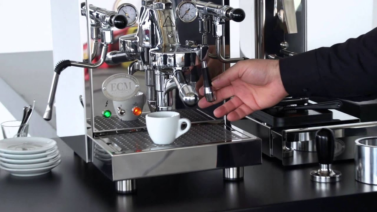 ecm how to make an espresso youtube. Black Bedroom Furniture Sets. Home Design Ideas