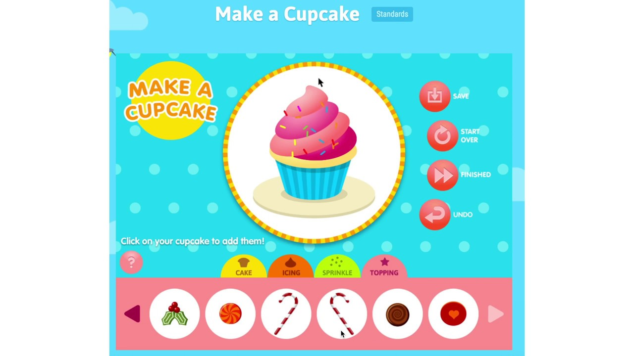 Make A Cupcake Playing Cupcake Game For Kids Abcya