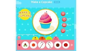 Make A Cupcake | Playing Cupcake Game For Kids// Abcya Game