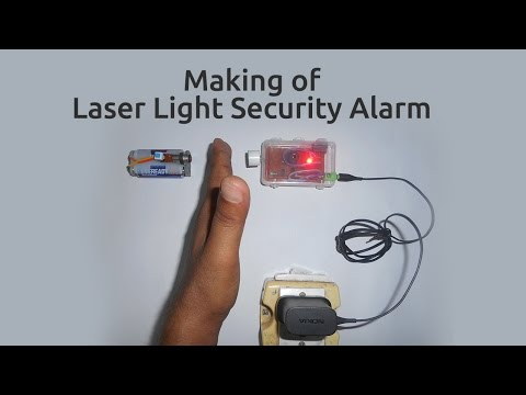 How to make a Laser Light Security Alarm
