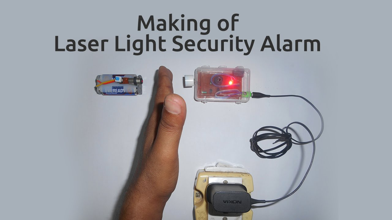 hight resolution of how to make a laser light security alarm