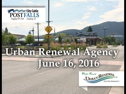 Post Falls Urban Renewal Agency Meeting - June 16, 2016
