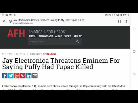 JAY ELECTRONICA THREATHENS EMINEM FOR SAYING P DIDDY  HAD TUPAC SHAKUR KILLED!!!