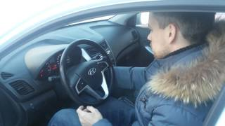 Заводим Hyundai Solaris зимой в 36