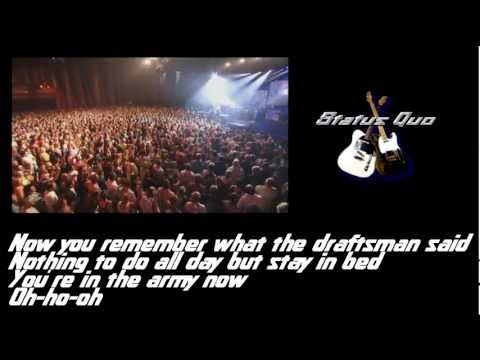 Status Quo - In the army now (Lyrics)