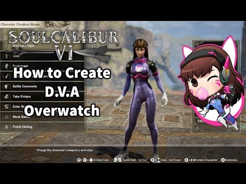 Soul Calibur VI - How to Create D.V.A - Overwatch