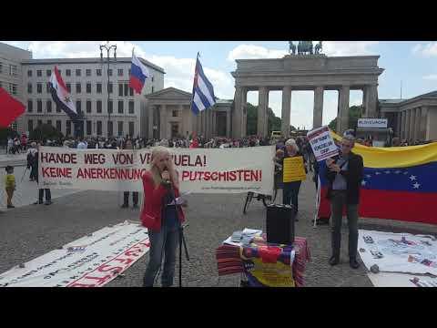 #HaendeWegVonVenezuela Kundgebung Brandenburger Tor Sa 18.5. Rede Nancy & Maren #HandsOffVenezuela
